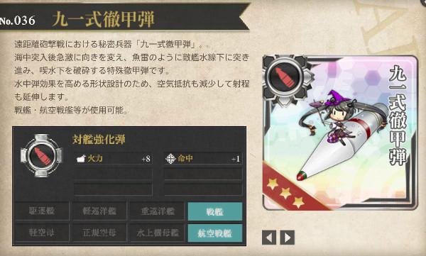【艦これ】九一式徹甲弾レシピ徹底解析