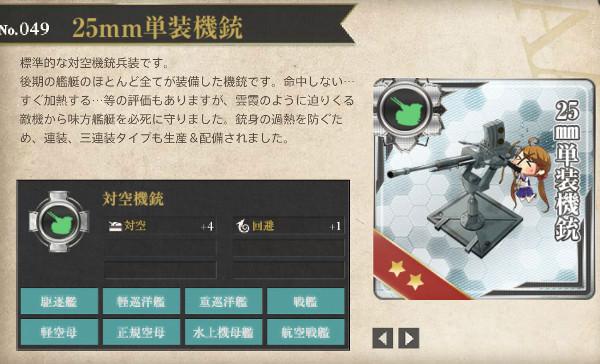 【艦これ】25mm単装機銃レシピ徹底解析