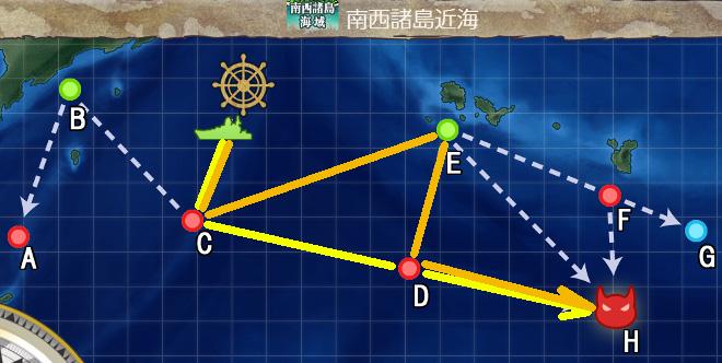 【艦これ】空母戦力の投入による兵站線戦闘哨戒 2-1