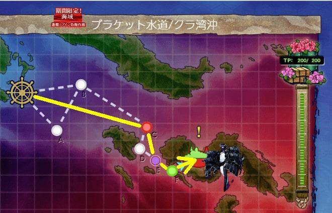 【艦これ】2019年冬イベント E-1 輸送ゲージマップ
